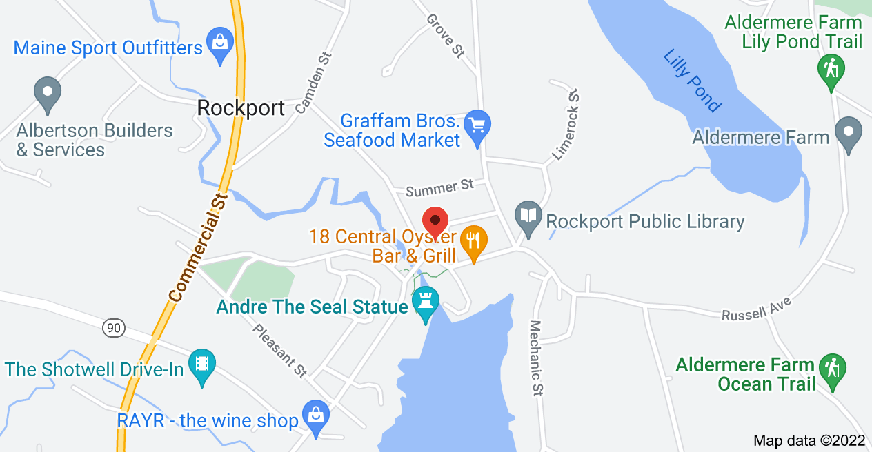 Map of 25 Main St, Rockport, ME 04856