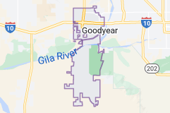 Map of Goodyear, Arizona