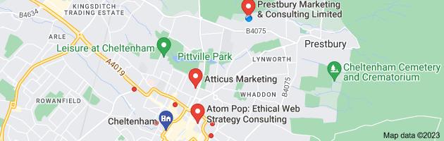 Map of marketing consultants cheltenham