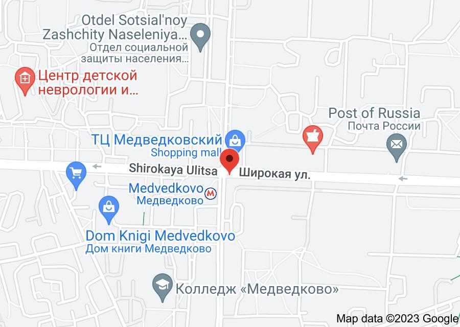 Location of Medvedkovo
