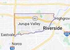 Map of Jurupa Valley