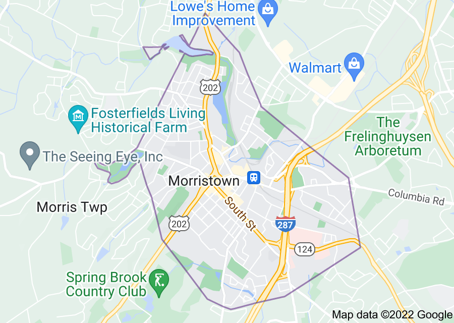 Location of Morristown