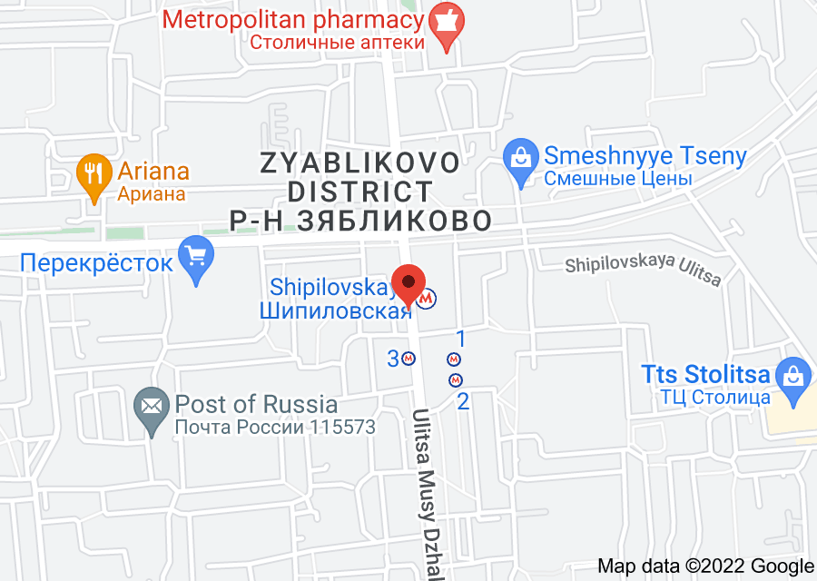 Location of Shipilovskaya