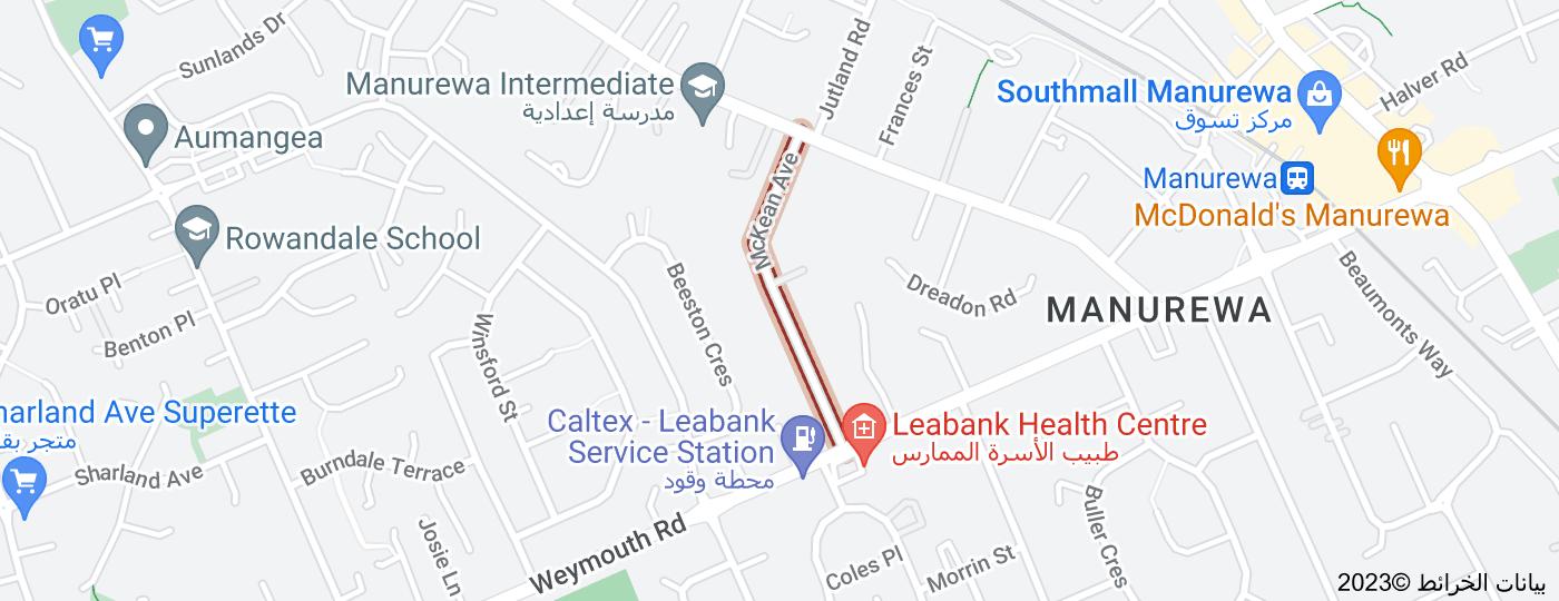 Location of Mckean Avenue