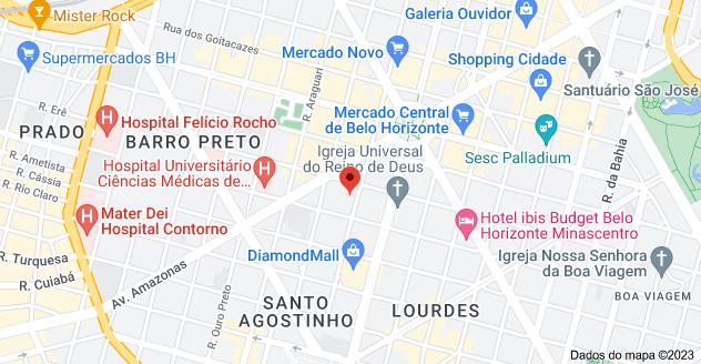 Mapa de R. Rio Grande do Sul, 1040 - Santo Agostinho, Belo Horizonte - MG, 30170-111