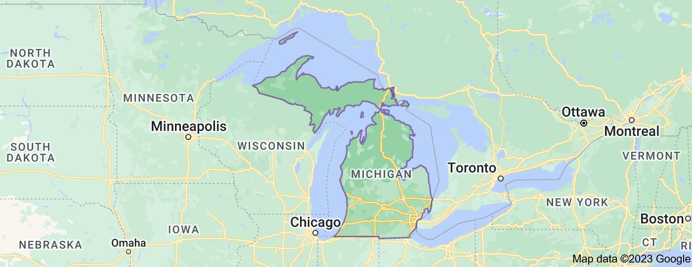 Location of Michigan
