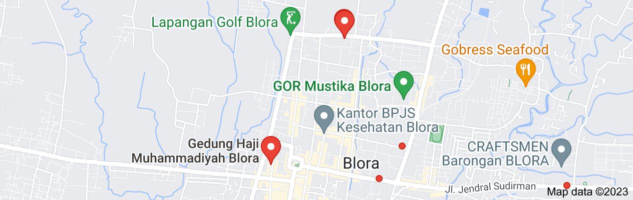 Map of haji blora