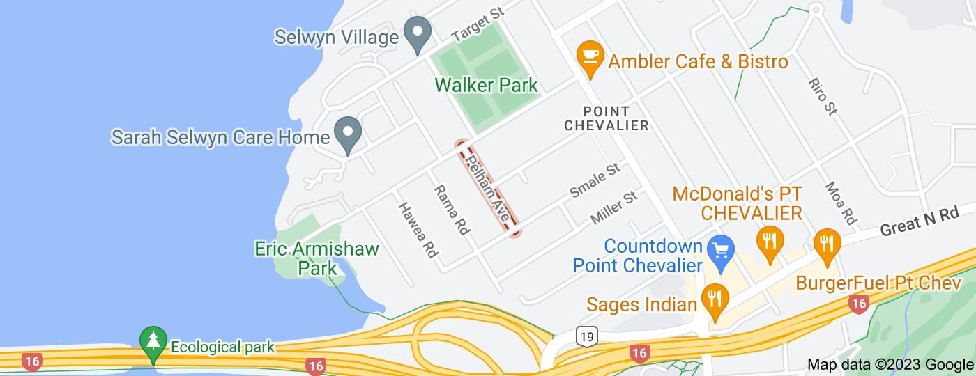Location of Pelham Avenue