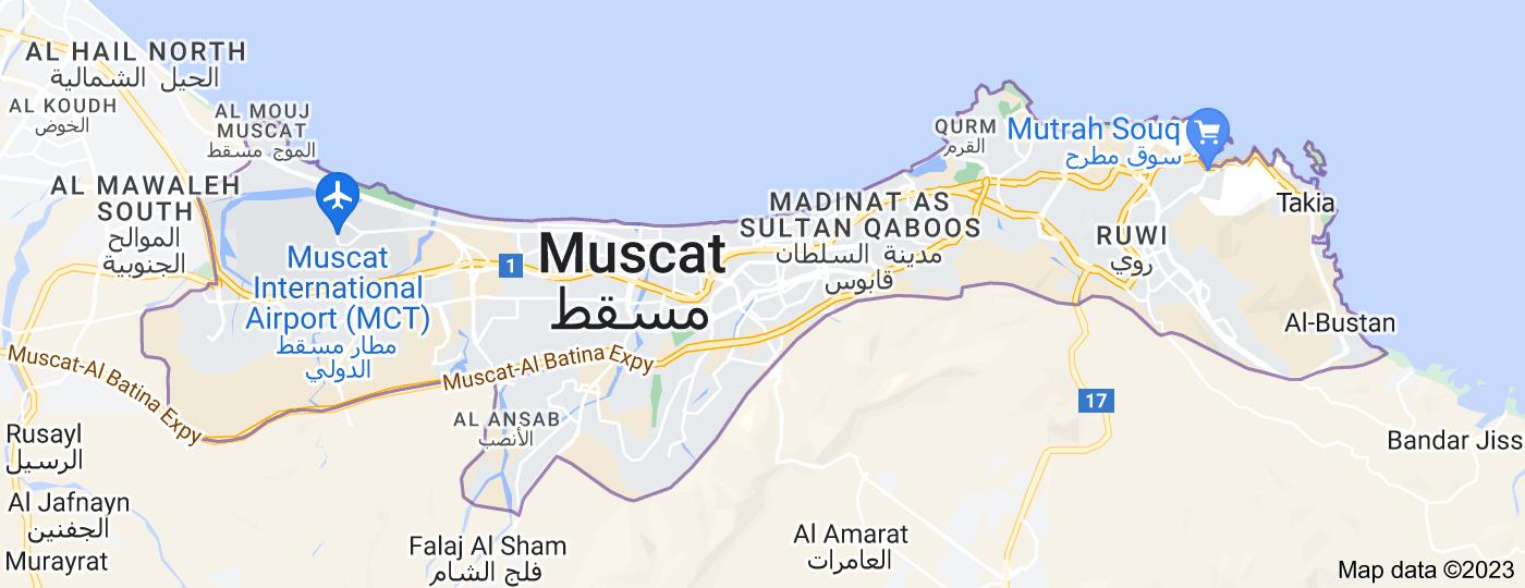 Location of Muscat