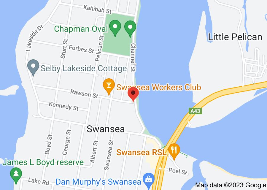 Location of Swansea Public School