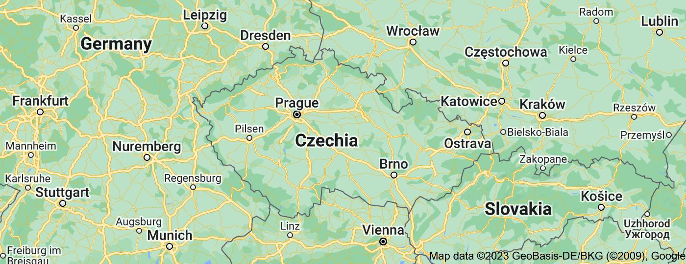 Location of Czech Republic