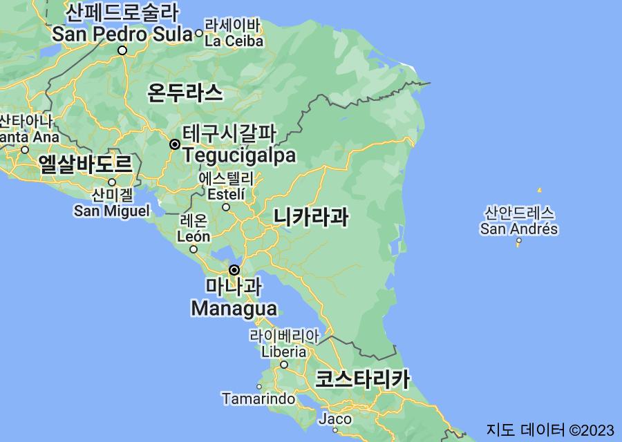 Location of 니카라과