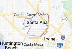 Map of Santa Ana, California