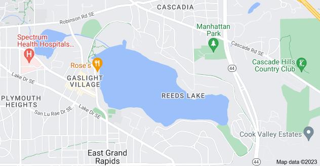 Map of Reeds Lake, Michigan 49506
