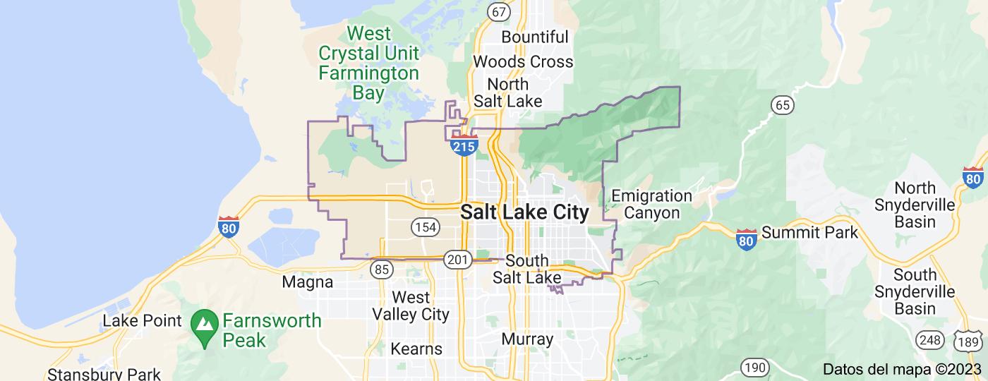 Location of Salt Lake City
