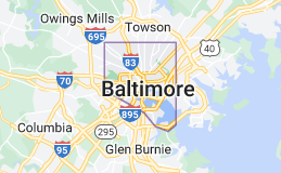 Map of Baltimore