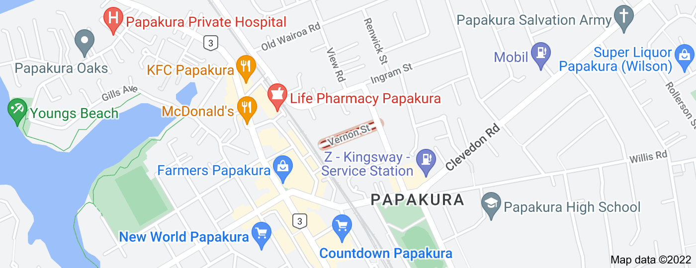 Location of Vernon Street