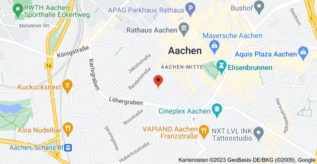 Karte von Frère-Roger-Straße 10, 52062 Aachen