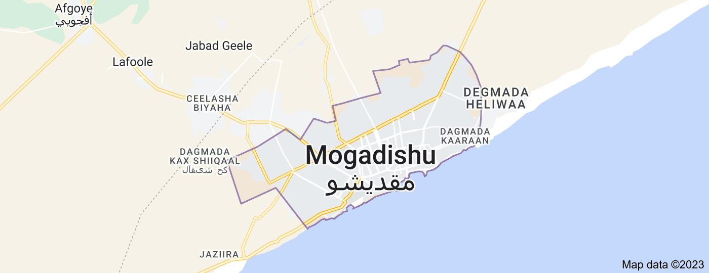 Location of Mogadishu