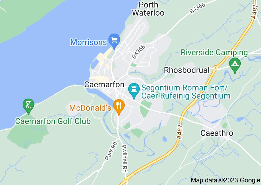 Location of Caernarfon