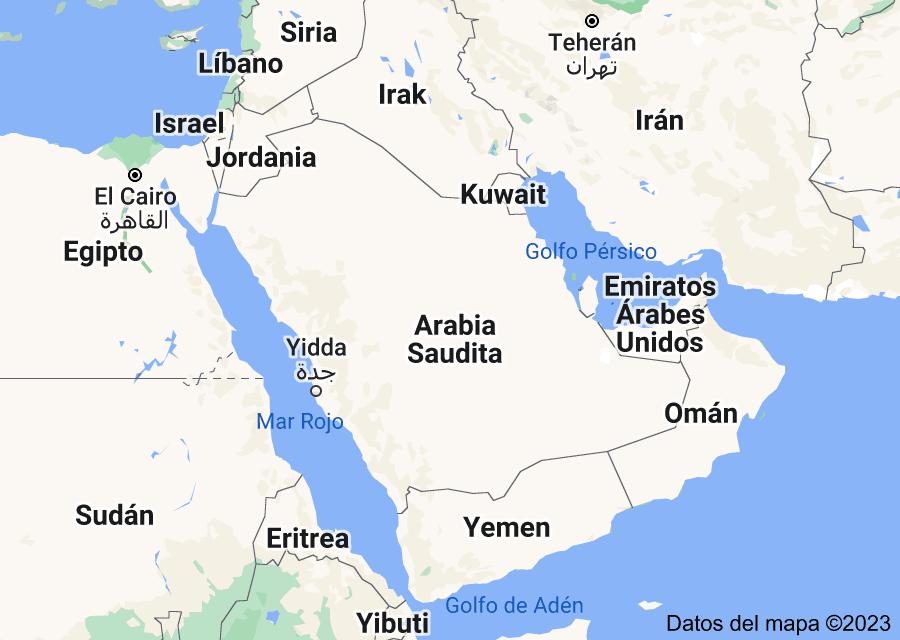 Location of Arabia Saudita