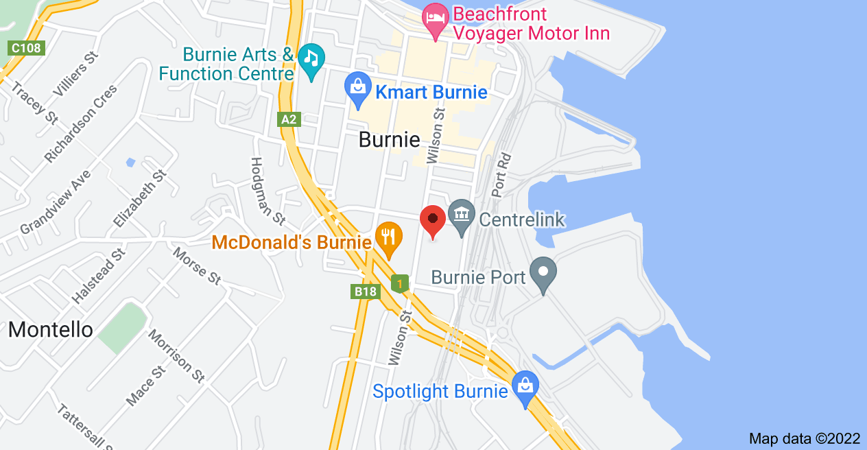 Map of 127 Wilson St, Burnie TAS 7320