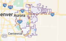 Map of Aurora, Colorado