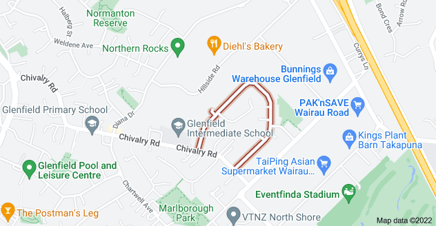 Location of Bruce Road