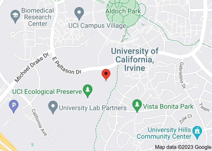 Location of University of California Irvine