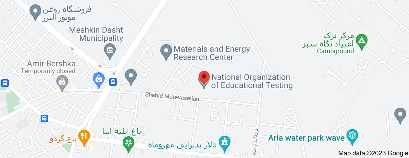Location of National Organization of Educational Testing