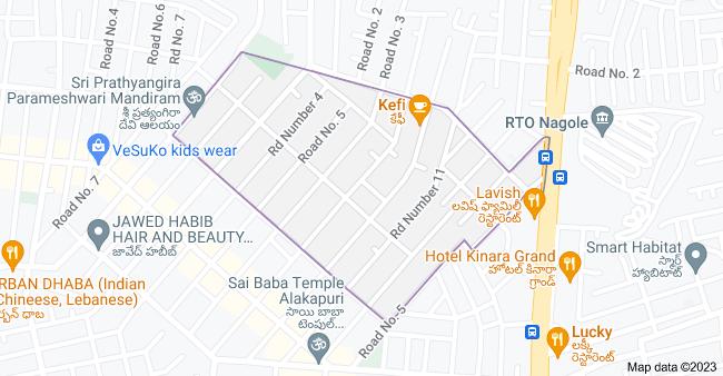 Map of RK Puram, Kothapet, Hyderabad, Telangana 500035, India