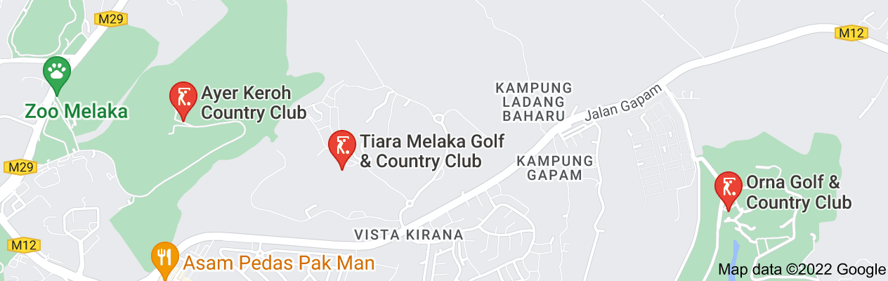 Map of melak country and golf club