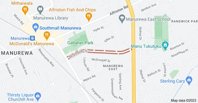 Location of Mcannalley Street