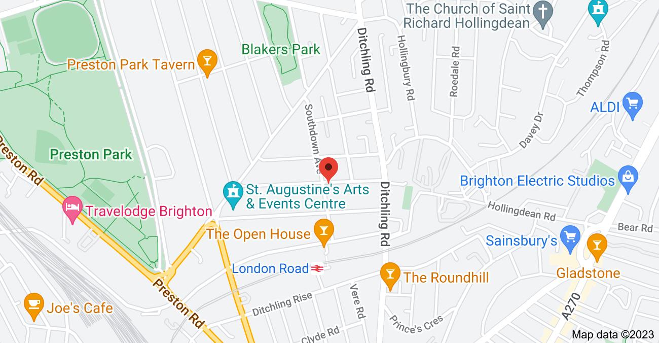Map of 1 Southdown Ave, Brighton BN1 6EG