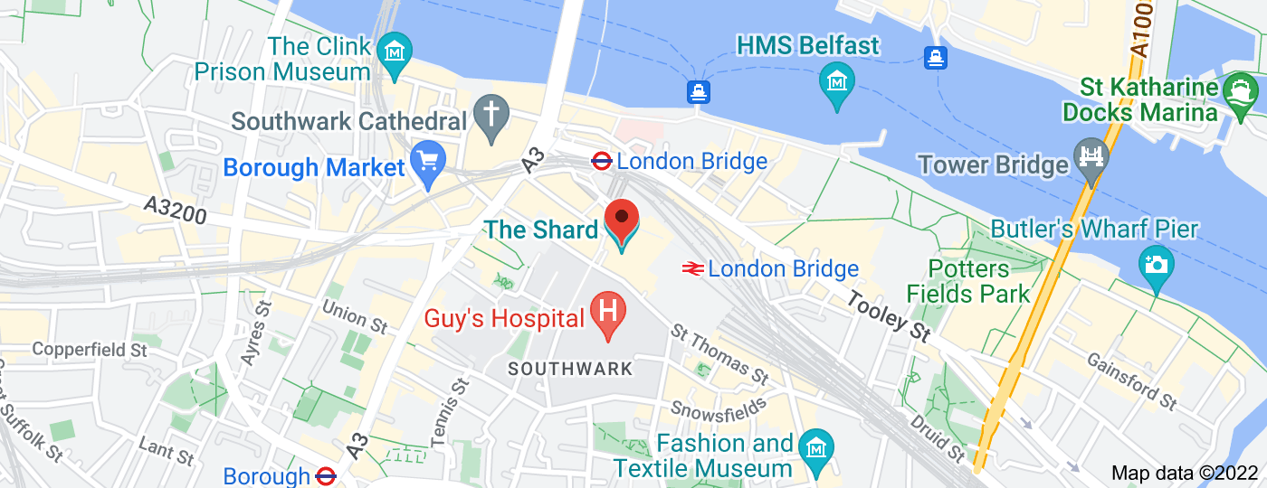Location of The Shard
