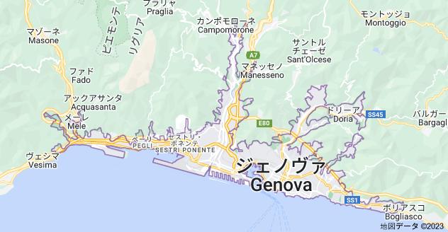 イタリア ジェノヴァ県 ジェノヴァの地図