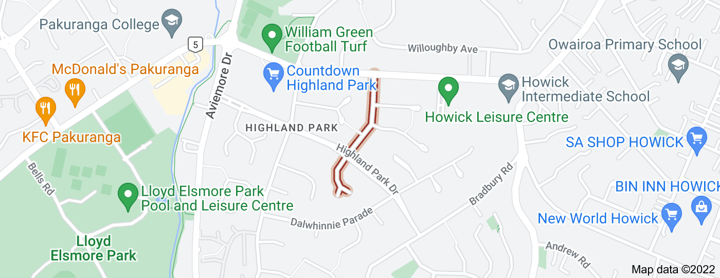 Location of Cromdale Avenue