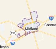 Map of Midland, Texas