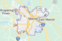 Map of Macon, Georgia