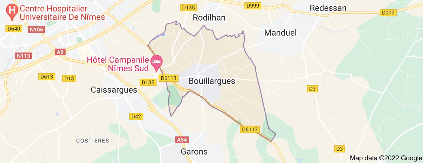 Location of Bouillargues