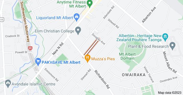 Location of Duart Avenue