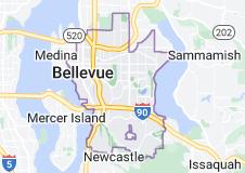 Map of Bellevue, Washington