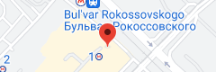 Location of Boulevard Rokossovskogo