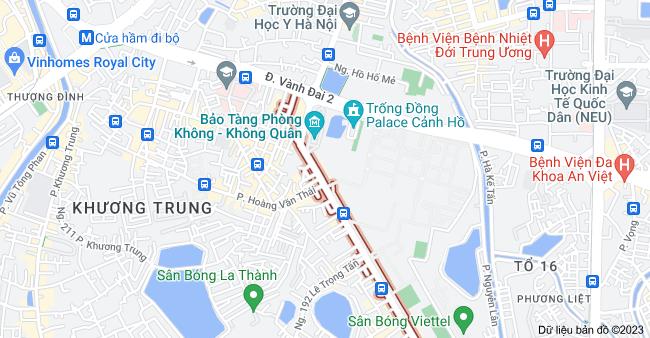 Bản đồ của Lê Trọng Tấn, Khương Mai, Hoàn Kiếm, Hà Nội