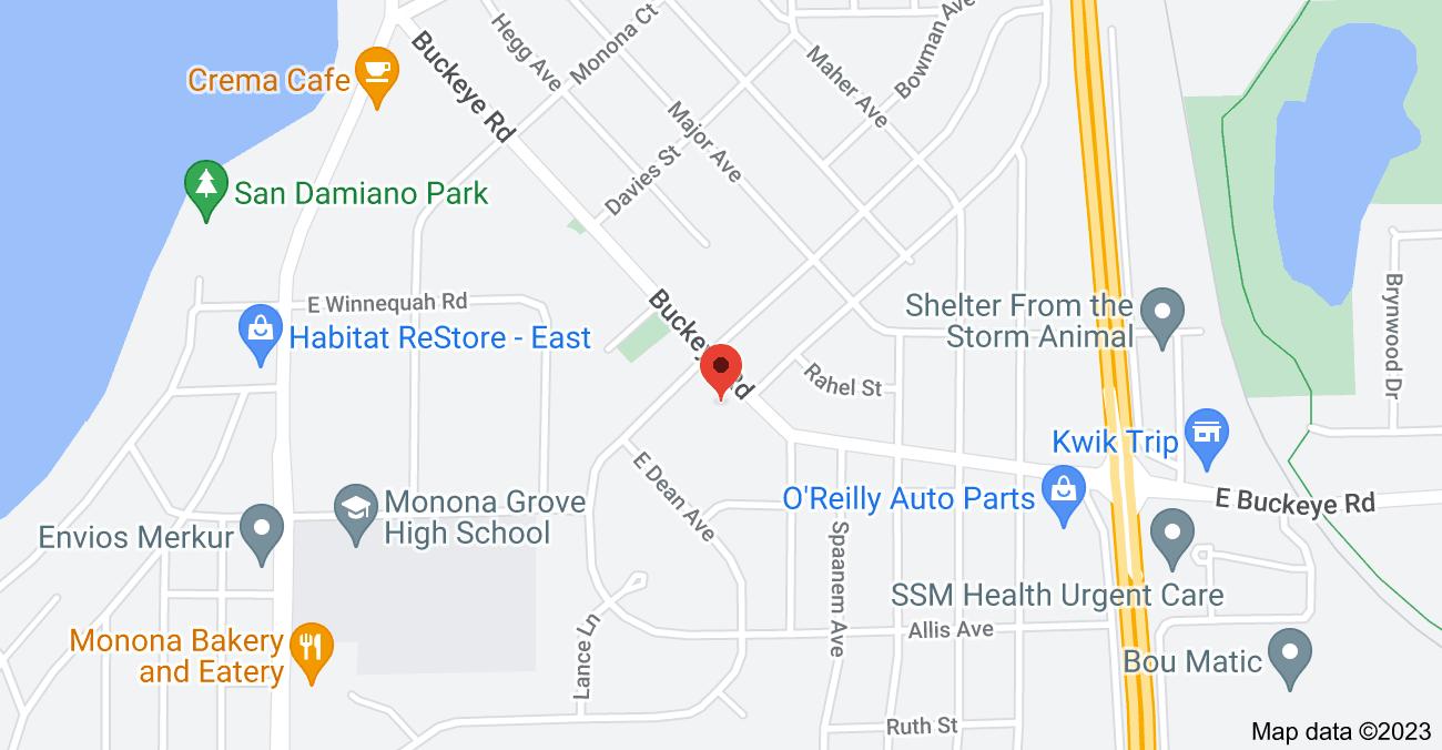 Map of 4405 Buckeye Rd, Madison, WI 53716