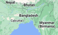 Location of Bangladesh