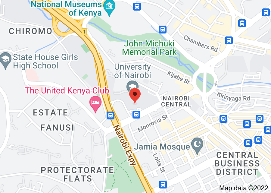 Location of University of Nairobi