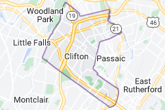 Map of Clifton, New Jersey