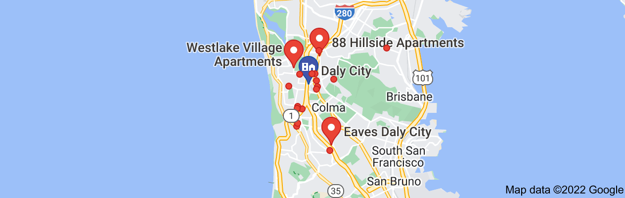Map of daly city apartment