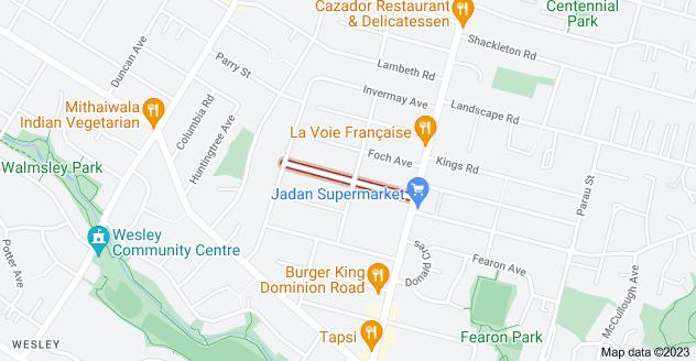 Location of Haig Avenue